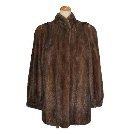 【期間限定大幅値下】毛皮 ファー コート レディース ミンク ショート サイズ13 ブラウン系