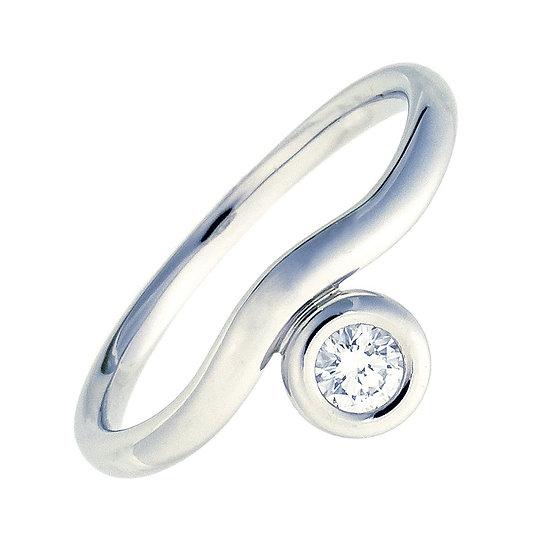 ティファニー 指輪 リング カーブド バイザヤード ペレッティ ダイヤ プラチナ Pt950 15.5号 TIFFANY&Co