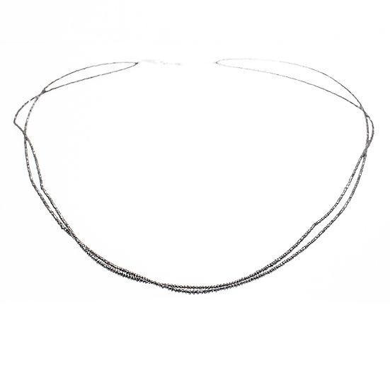 ネックレス ダイヤ ブラックダイヤ 52.43ct 2連 K18WG