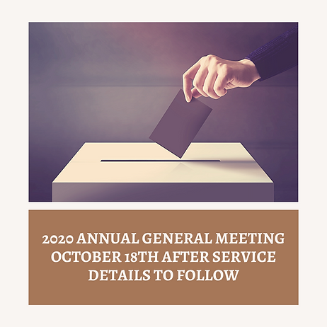 2020 annual general meeting October 18th