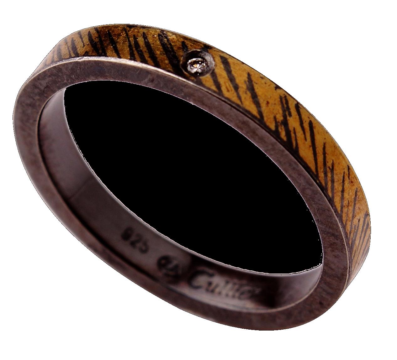 striped ladys ring