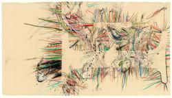 佐佐木實『Freak』2012年/紙に鉛筆、色鉛筆、木炭、パステル、水彩、インク