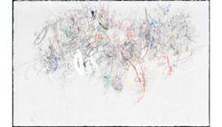 佐佐木實『性差』2010年/紙に鉛筆、色鉛筆、木炭、パステル、水彩、インク