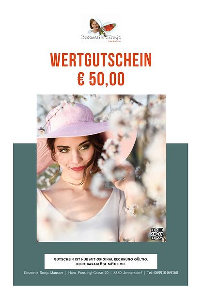 Online-Gutschein € 50,00
