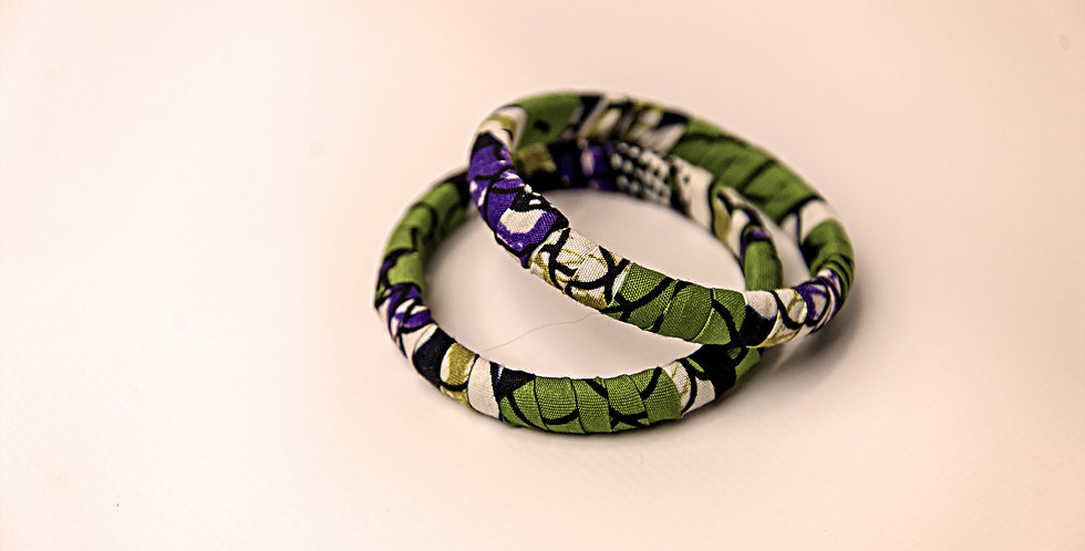 KITENGE FABRIC COVERED BRACELET (1 Bracelet)