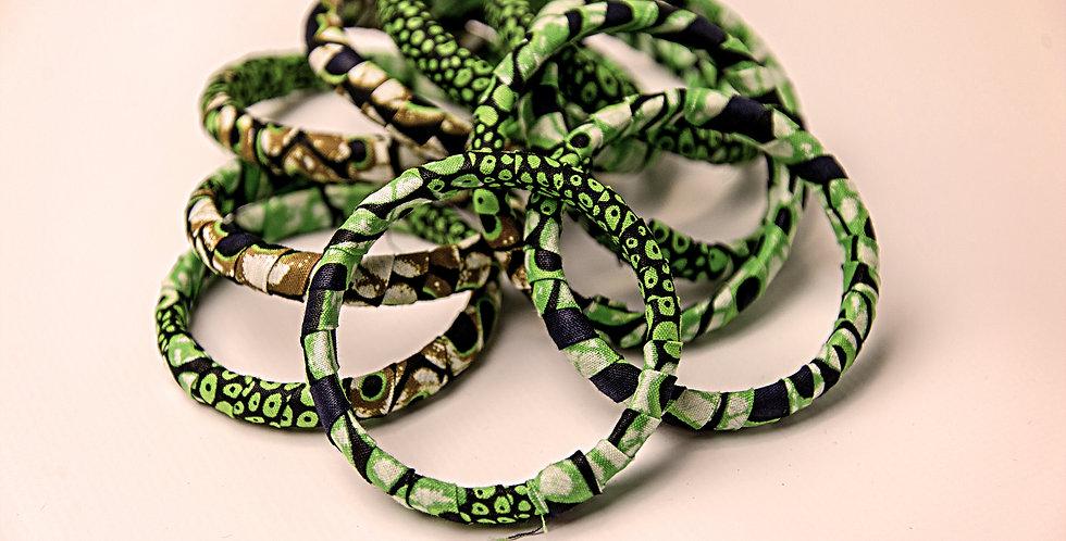 KITENGE FABRIC COVERED BRACELET (1 Bracelet)