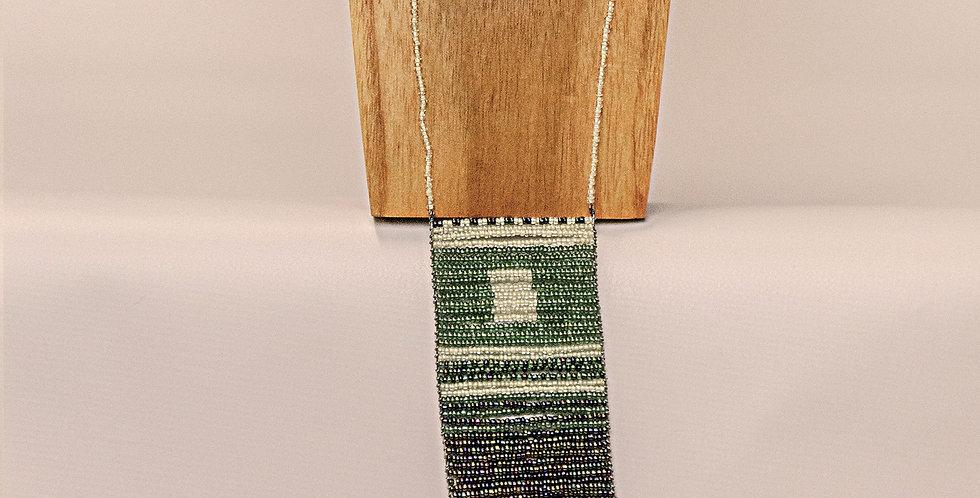 SIMU NECKLACE (GREEN/CREAM/MULTI COL)
