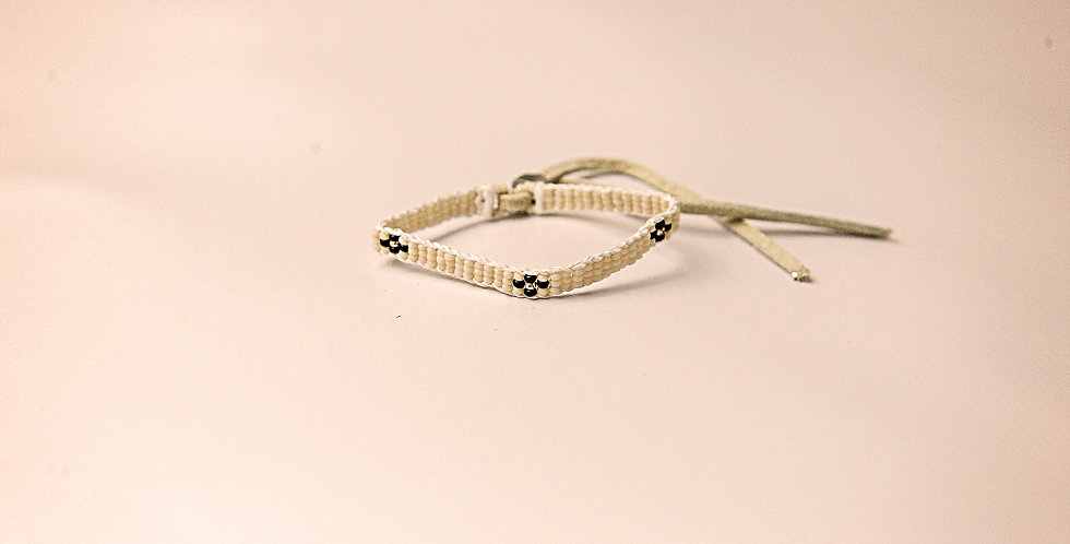 EX.SM.WARRIOIR BRACELET (CREAM/BLACK/GOLD)