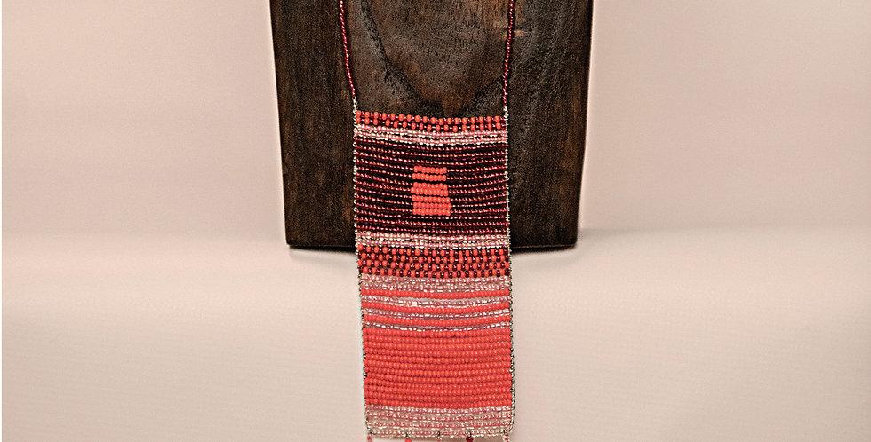 SIMU NECKLACE (RED/ORANGE/PINK) RED