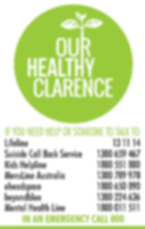 Our Healthy Clarence, Clarence Valley, Grafton, Yamba, Support, Mental Health, Health, Wellbeing, Health Services, Services, Community