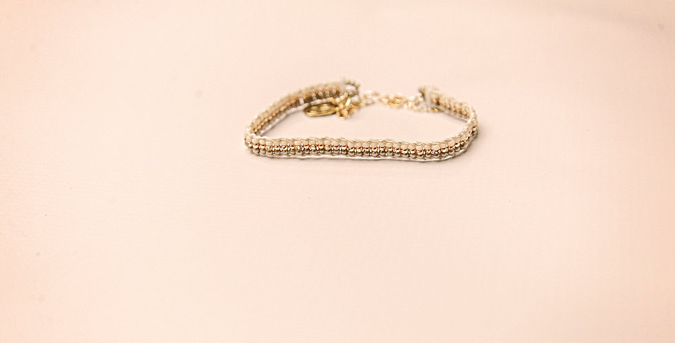 EX.SM.WARRIOR BRACELET (TAUPE/GOLD/CREAM)