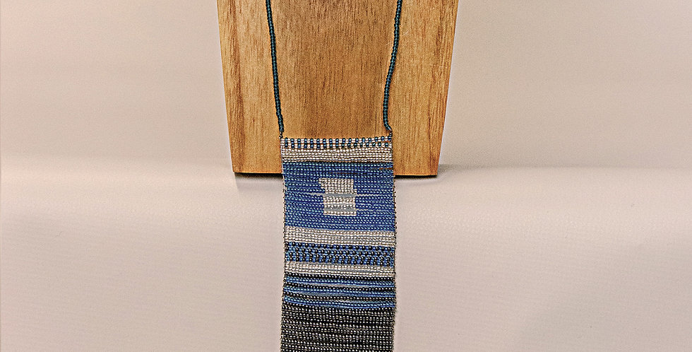 SIMU NECKLACE (BLUE/SILVER/DK.GREY)
