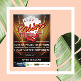 Charity Casino Night Branding & Poster