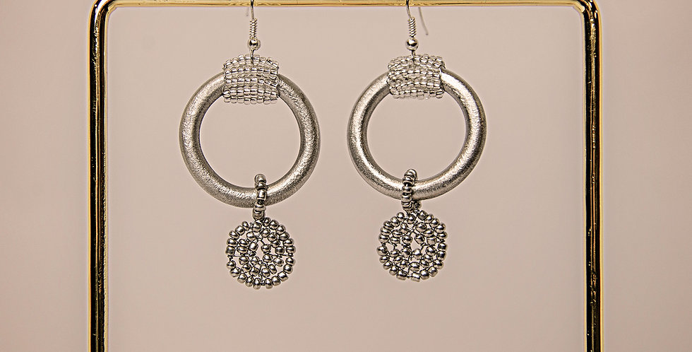 ESIANGIKI EARRINGS (SILVER/GREY)