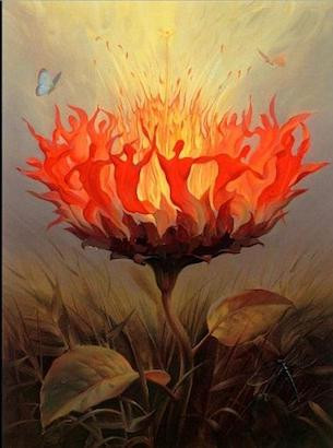 Fiery Dance by Vladimir Kush