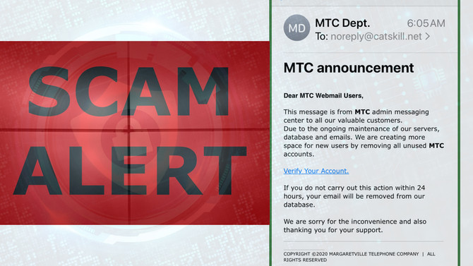 EMAIL SCAM - 10/23/2020