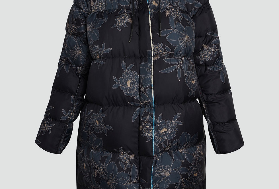 Johnny Was Emmy Floral Print Quilted Reversible Parka