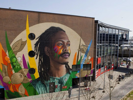 """Tymon De Laat Unveils New """"Birth of a New Age"""" Mural"""