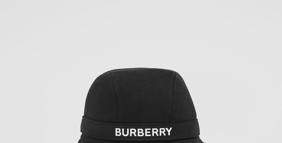 Burberry Logo Print Cotton Jersey Bucket Hat