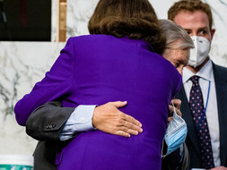 Lindsay Graham Getting a Hug at Amy Coney Barrett's Hearing Just Put Democrats Over the Edge