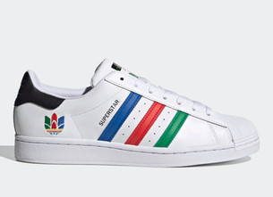 The adidas Superstar Applies Multi-Colored Stripes