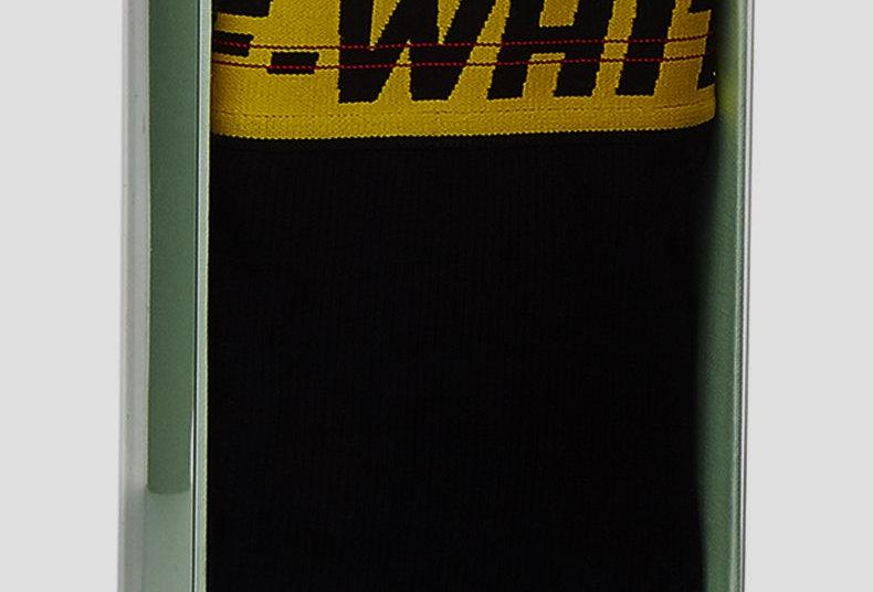 Off-White Men's Contrast-Trim Cotton Boxer Shorts