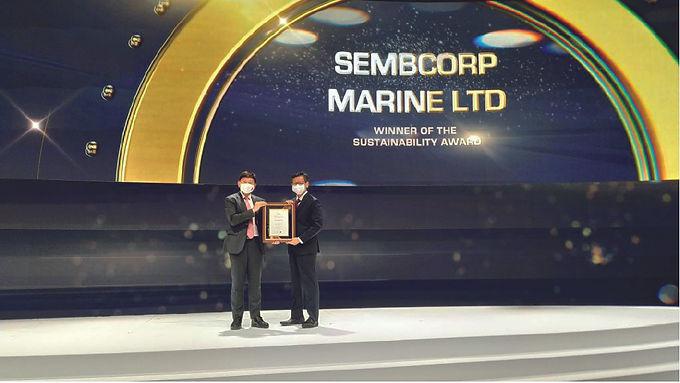 Sembcorp Marine Wins Sustainability Award at Singapore International Maritime Awards 2021