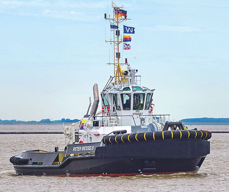 "MTU ENGINES FROM ROLLS-ROYCE TO SUPPLY NEW ""PETER WESSELS"" TUG IN EMDEN PORT WITH 63 TONS BOLLARD PULL"