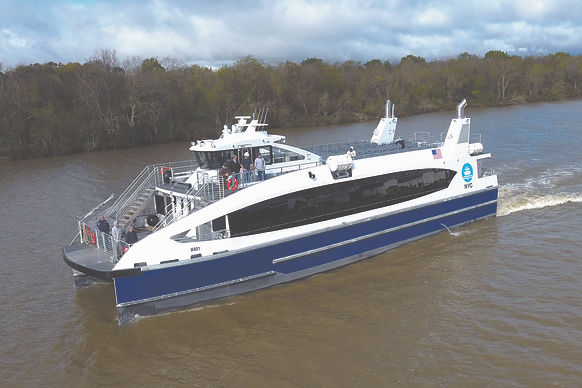 LOW EMISSION INCAT CROWTHERFERRIESDELIVERED TO NYC FERRY BY HORNBLOWER
