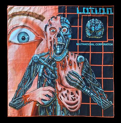 "L.O.T.I.O.N. Multinational Corporation ""Alphabrain"" Bandana"