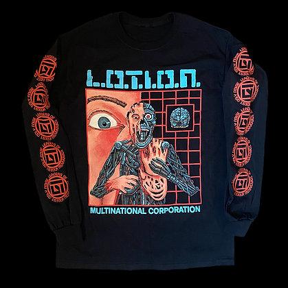 "L.O.T.I.O.N. Multinational Corporation ""Alphabrain"" Long Sleeve Tee"