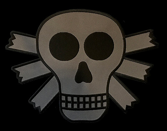 Skull Embroidered Back Patch