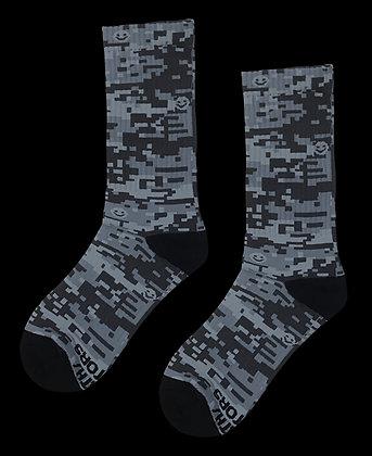 Smiley Face Digital Camo Socks