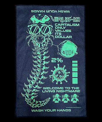 Virus Microfiber Hand Towel