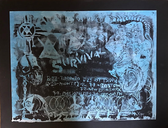 Anasazi/Survival Screen Printed Tour Poster