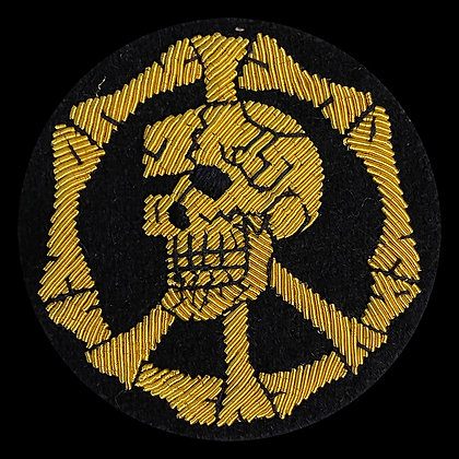 Skull Peace Embroidered Metal Wire Patch