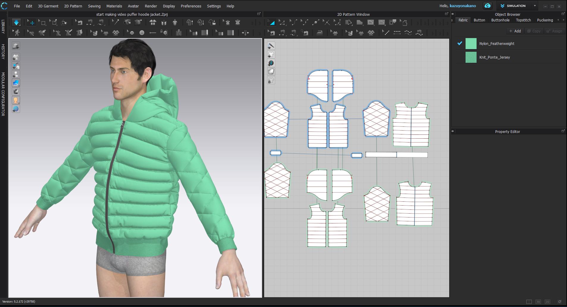 puffer hoodie jacket screen