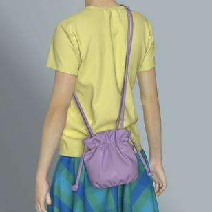 Cross Body Drawstring Gathered Bag