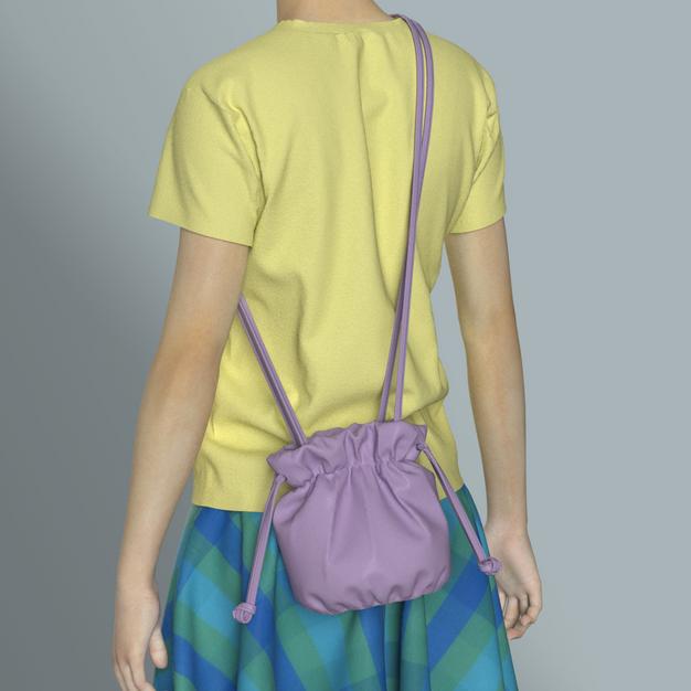 Drawstring Gathred Cross Body Bag