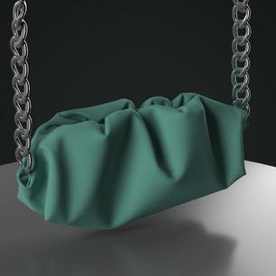 Gathered Clutch Bag