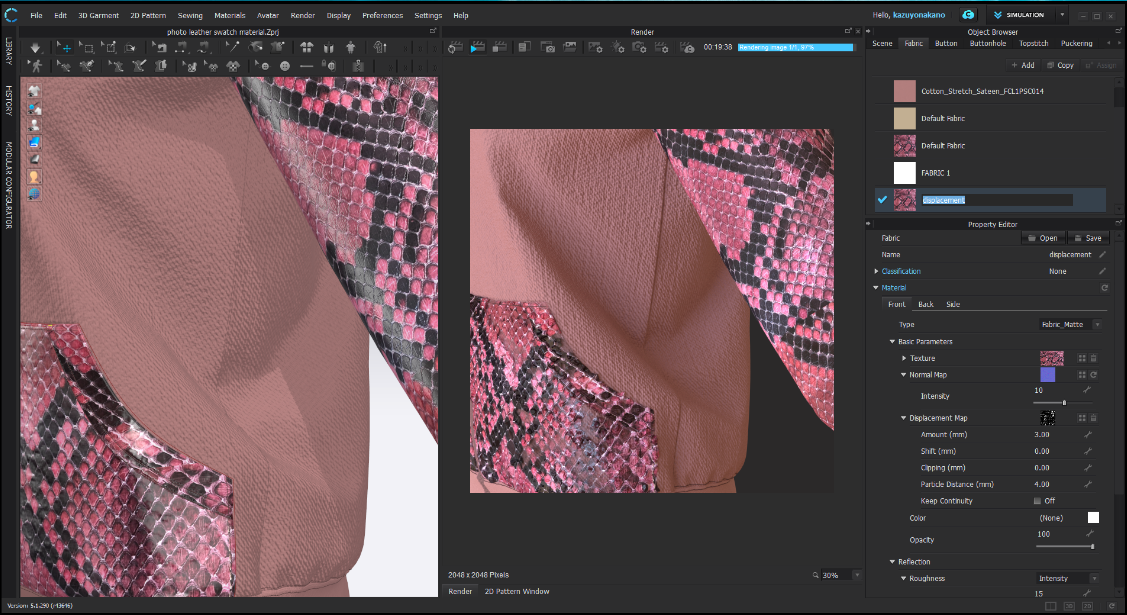 fabric editing rendering