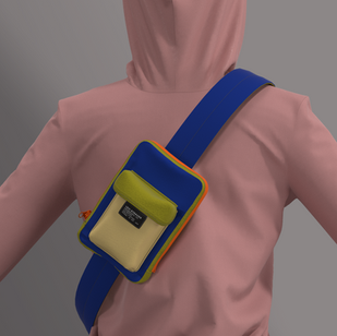 Cross Body w Flap PKT Bag