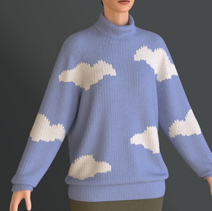Cloud Pattern Knit Sweater