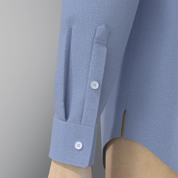 Cuff with Pleats and Placket