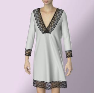Lace edging Dress