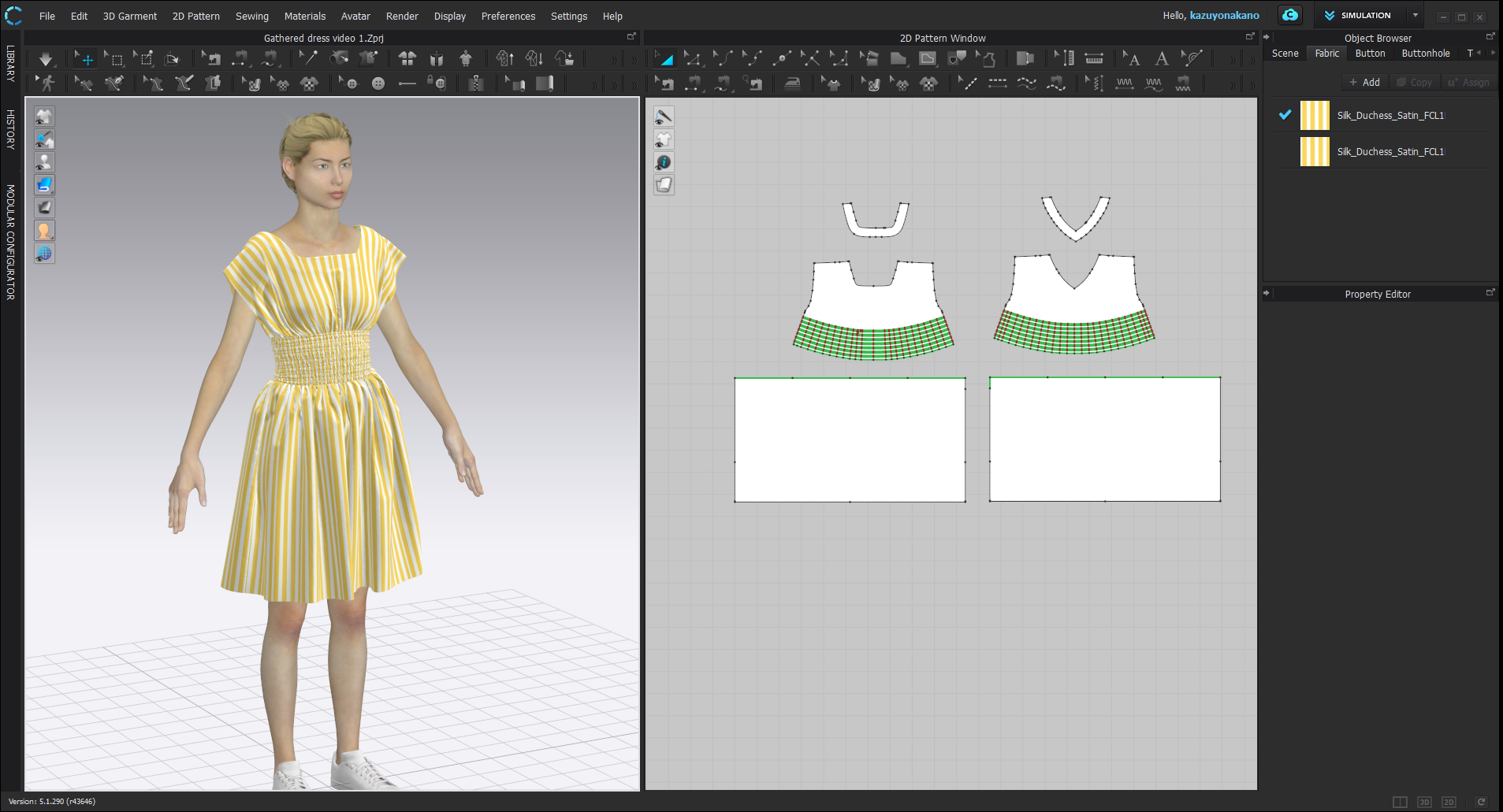 Mocking yellow stripe dress