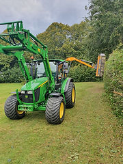 tractor hedge cutting