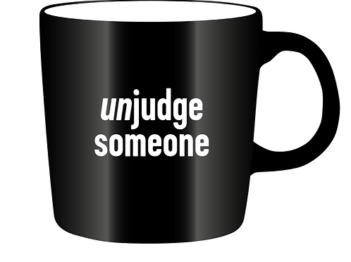 Mug: unjudge someone