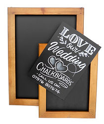 chalkboard poster and frame