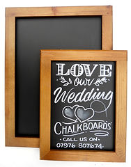 Chalkboard Poster display in a frame